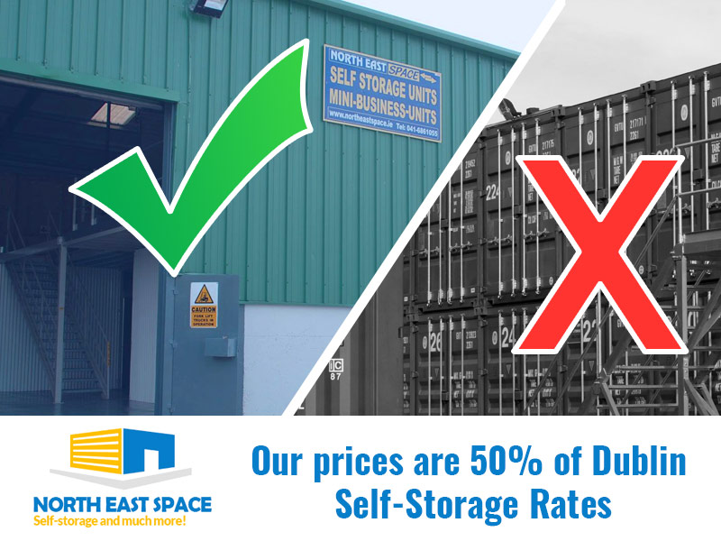 Lowest Prices in Dublin, Ireland, Self-Storaget